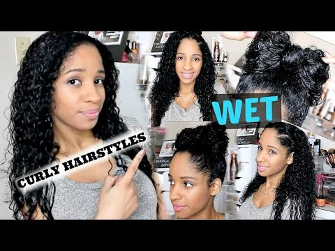 5 WET CURLY HAIRSTYLES I Back to School