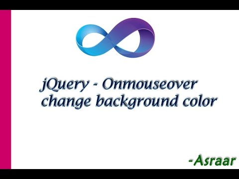 Jquery onmouseover change background