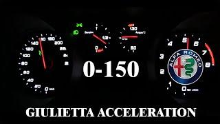 Alfa Romeo Giulietta 170hp ACCELERATION test 0-100km/h 0-150km/h (VELOCE) 2020