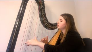lovely - Billie Eilish & Khalid (Harp Cover by Arianna Worthen)