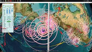 7/21/2018 -- Hawaii Volcanoes Update -- Earthquake activity across Pacific spreading rapidly