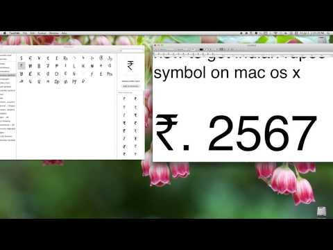 how to get indian rupee symbol on mac os x