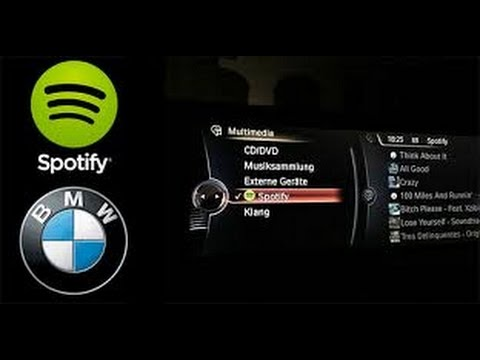 BMW Connected Drive - Step 10 - How to use Spotify in your BMW .