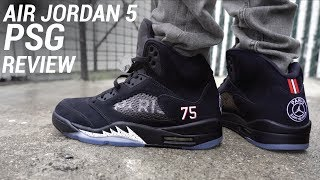 save off 4f007 a195b Nike Air Jordan 5 Retro x PSG 'black/red challenge-white ...