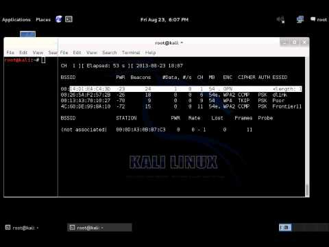 How to find a hidden SSID with Backtrack or Kali linux