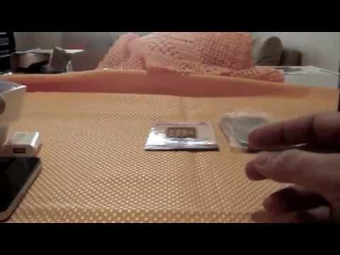 Unboxing do iPhone 4 Frances + Capa Silicone + Pelicula Protetora