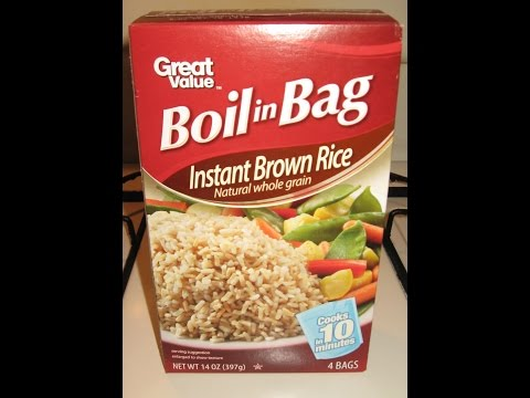 product review BOIL IN BAG INSTANT BROWN RICE - NATURAL WHOLE GRAIN - Great Value Brand - WINNER!!!
