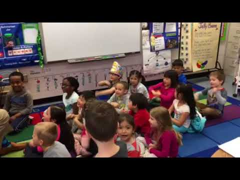 Dr. Wright Sings with Kindergarten