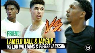 LaMelo Ball & Jaygup vs NBA Guards LOU Williams, Pierre Jackson, Brandon Jennings at Rico Hines Runs