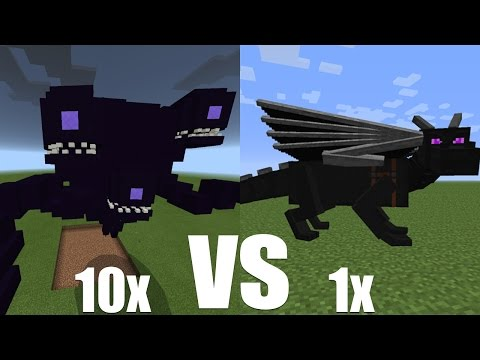 What Happens When 10 Wither Storms Fight Against 1 Ender Dragon? - Minecraft PE (Pocket Edition)
