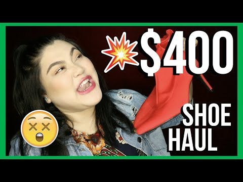 $400 PLUS SIZE shoes haul + TRY ON | AngKikayKo