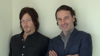 """Interview with stars of """"The Walking Dead,""""  Andrew Lincoln and Norman Reedus"""