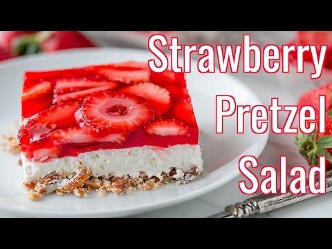 Dessert: Strawberry Pretzel Salad Recipe - Natasha's Kitchen