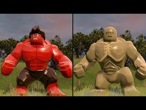 LEGO Marvel's Avengers - Red Hulk vs Abomination - CoOp Fight | Free Roam Gameplay [HD 1080p]