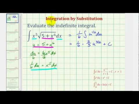 Ex: Indefinite Integral Using Substitution Involving a Square Root
