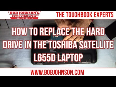 How to replace the hard drive in the Toshiba Satellite L655D Laptop