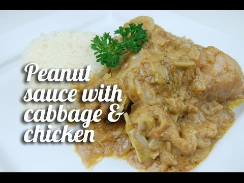 Peanut sauce with cabbage and chicken