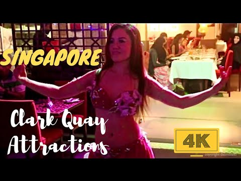 Merlion Clarke Quay Marina Bay Sands Singapore in 4K - Popular & Top Tourist Attractions
