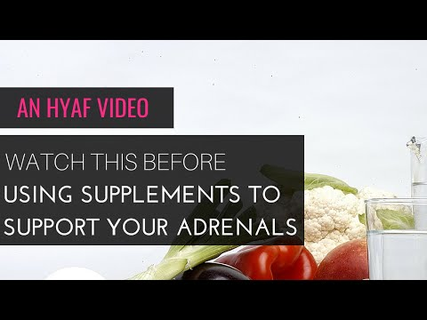 Adrenal Fatigue TV: Watch this before using supplements to support your adrenals!