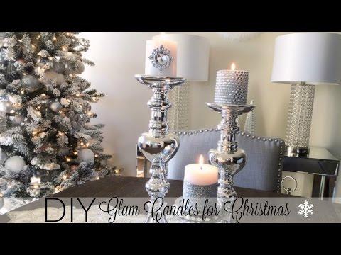 DIY Glamorous Candles - Christmas Decor