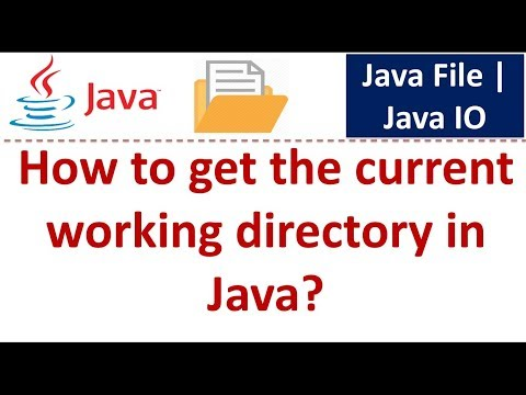 Java Tutorial : Java IO (Java File - How to get the current working directory)