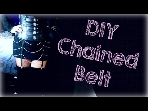 DIY Chained Garter Belt (Gothic/Death Rock Style)