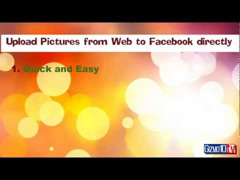 Upload any pictures from web to Facebook Directly