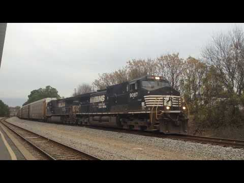 NS 28T passes the Columbia Amtrak station in Columbia, SC