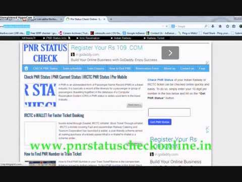How to Check Pnr Status Online irctc