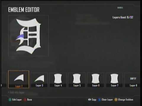 How To Make Detroit Tigers D Emblem Logo Black Ops 2 - Option 2