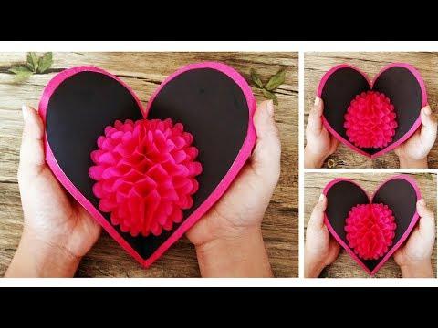 3D Pop Up Heart Card | DIY Valentine Cards | Handmade Cards | Scrapbooking | Craftastic