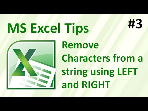 Remove characters from a string using LEFT and RIGHT - Fix your data! (Excel tips #3)