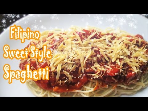 Filipino Sweet Style Spaghetti (Ala Jollibee)