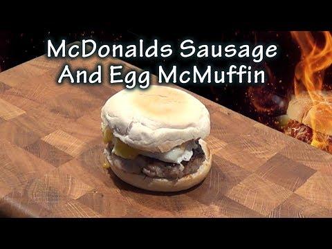 DIY McDonalds Sausage and Egg McMuffin Copycat recipe