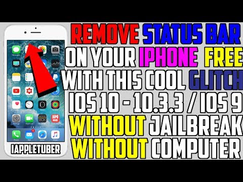 Remove Status Bar on iPhone With This Cool GLITCH Permanently! (NO Jailbreak NO Computer) iOS 10/9