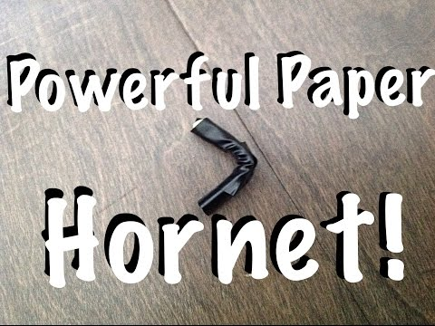 How to Make a Paper Hornet | Shoots 60+ mph |
