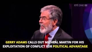 Micheál Martin put back in his box by Gerry Adams