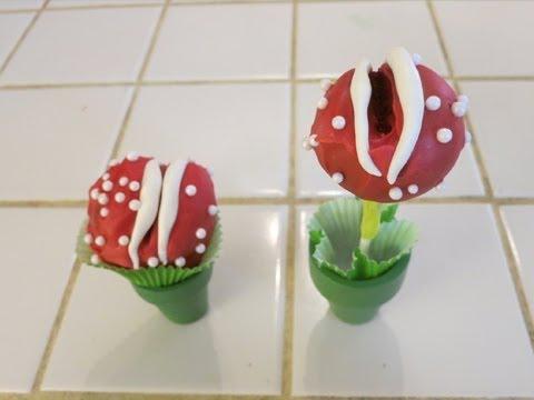 Super Mario Piranha Plant Cake Pops - Quake N Bake