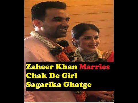 Zaheer Khan marries Chak de Girl Sagarika Ghatge, see latest wedding pics and wedding card
