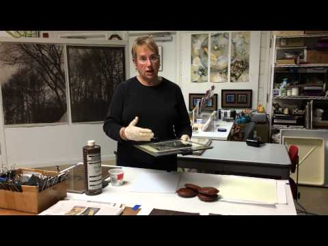 Gail Erwin demonstrates the Van Dyke Brown photographic process
