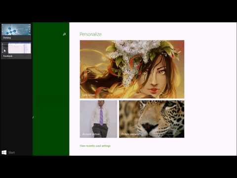 How to synchronize your facebook profile to windows 8/8.1 profile