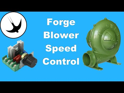 How to speed control your Forge Blower / fan:  Swallow Forge