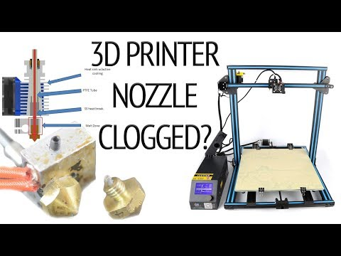How to QUICKLY and EASILY unclog you creality 3d printer clogged nozzle on a cr 10 when 3d printing