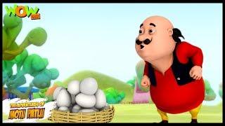 Motu Patlu Cartoons In Hindi    Animated cartoon   Motu ke ande   Wow Kidz