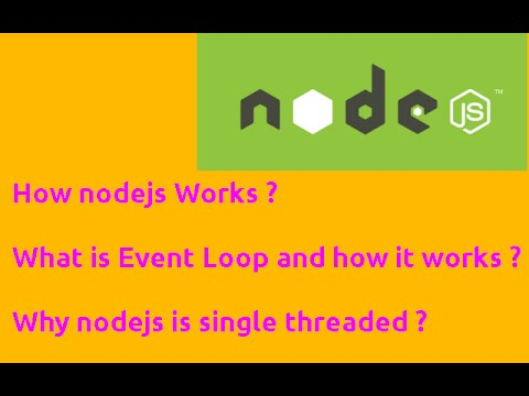 NODEJS: event loop and threads works together (HINDI)