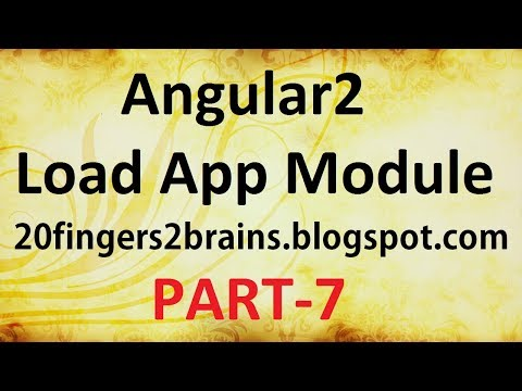 Angular 2 - Load App module