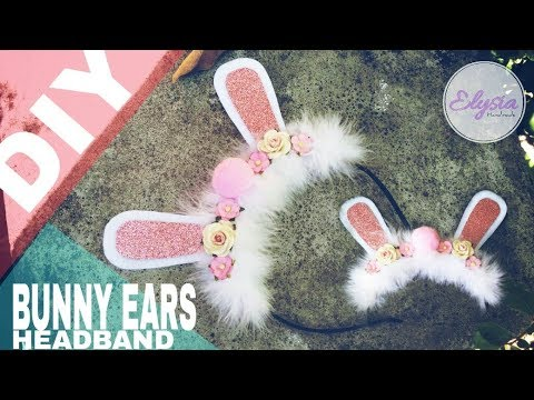 How To Make A Bunny Ears Headband For Baby & Toddler Using  Glitters Leather and Pom-pom Ball