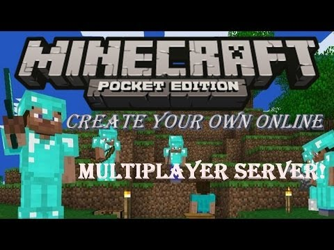 How to create own Minecraft PE 0.8.1 online multiplayer server from PC!