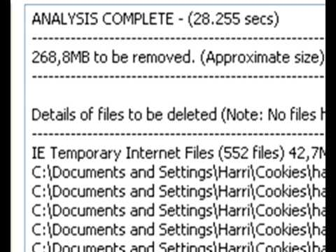 Clean Your History In Your Computer