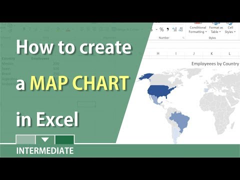 Create a Map chart in Excel 2016 by Chris Menard
